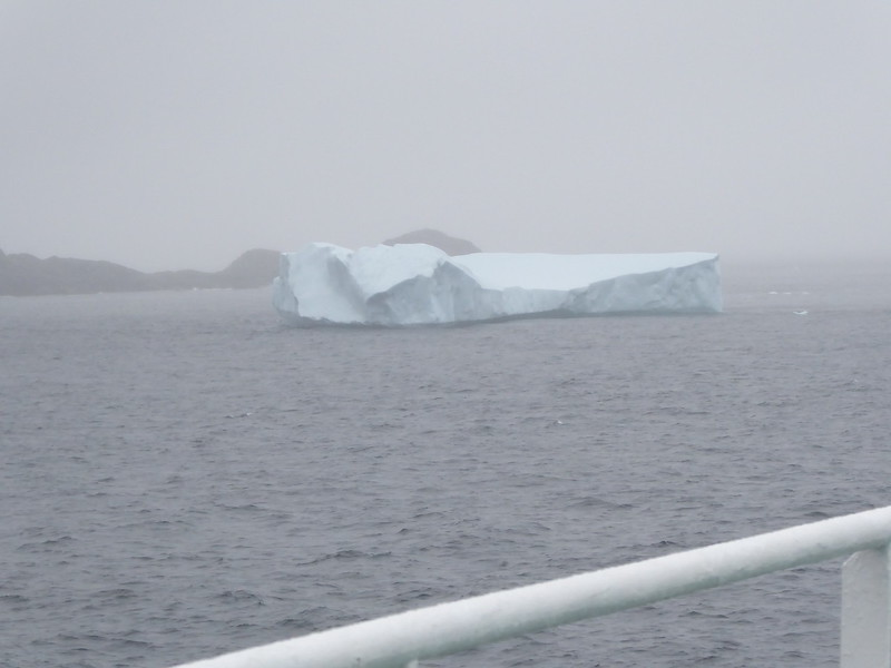 And the iceberg, still there in the mist. No more pictures from this day as it was spent in very foggy Frobisher Bay and there was nothing to see.