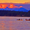 Cambell River Tyee Fishing<br /> <br /> In this print I pushed some of the color variables in Photoshop to make it look like a painting.  Comments welcome