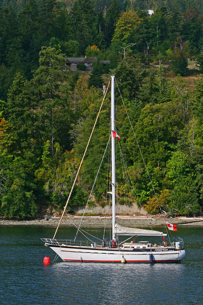 There are many beautiful houses along the sea coast of the many islands off the east coast of Vancouver Island.  They run about 2 million each and require the mandatory 40 foot sailer.