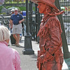 Moveable statue surprises people when she moves.