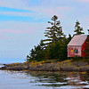 This shot of a red saltbox house near Lunenberg got a watercolor filter in PS.