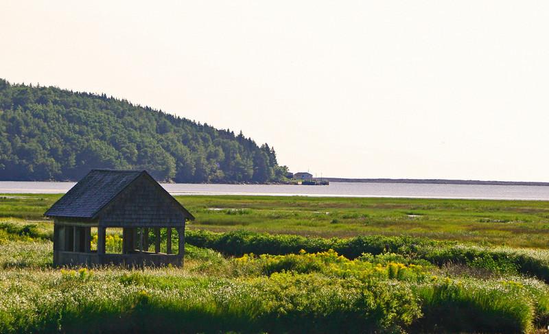 A old salt box on a main estuary