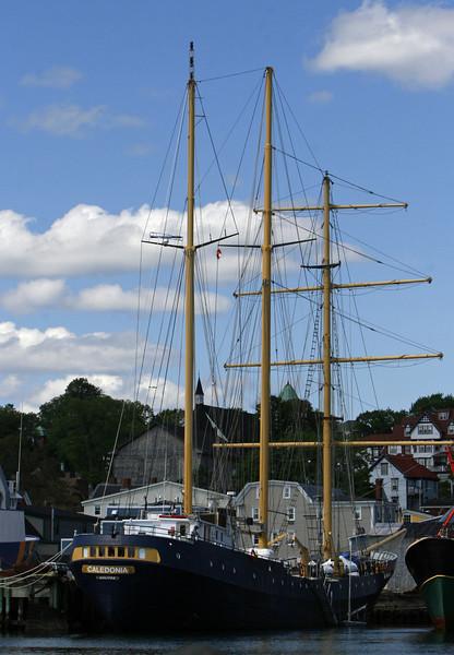 Caldonia at bearth in Lunenberg Harbor