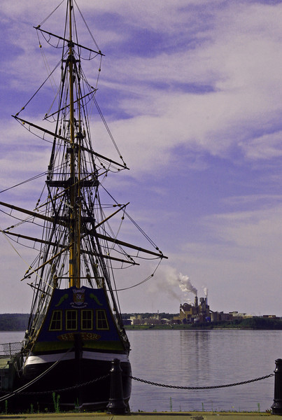 The Hector, replica of the first ship to bring scots to NS and the scourge of Pictou County the Paper Mill.