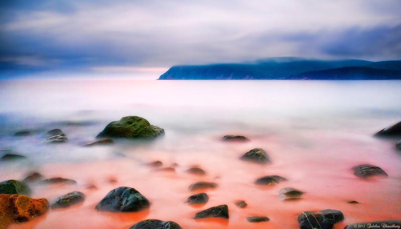 Ingonish beach, Cape Breton, Nova Scotia. Cape smoky in the background.