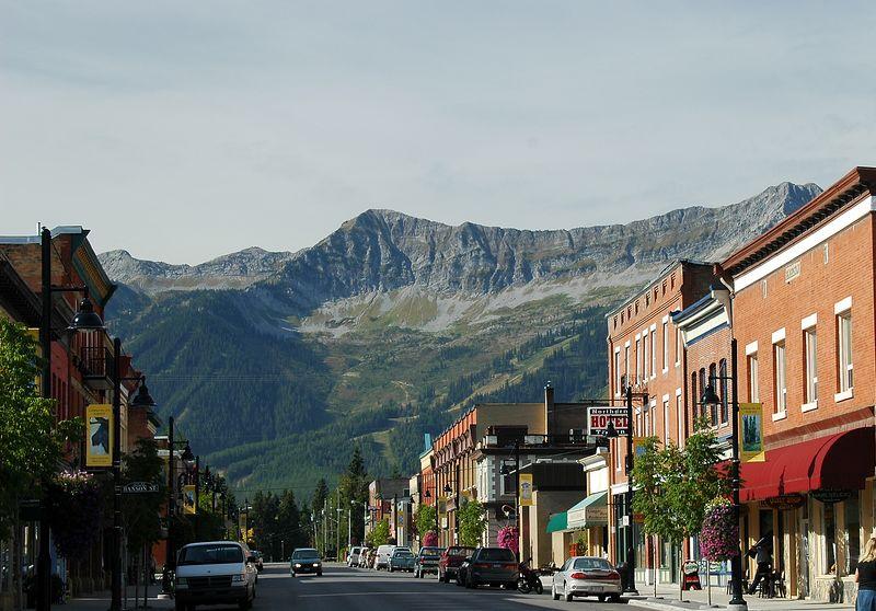 Downtown Fernie, BC on September 2, 2005.