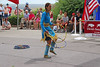 Hoop Dancer at Head-Smashed-in Buffalo Jump<br /> Interpretive Centre - a World Heritage Site near Fort Macleod, Alberta.      July, 19, 2006