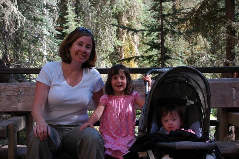 Sherri, Samantha, and Natalie at Johnston Canyon