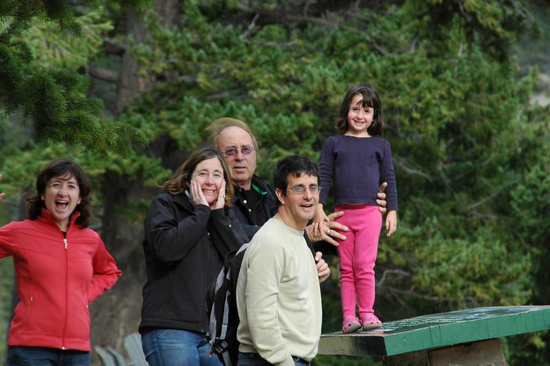 Kim, Sherri, Elliot, Norman, and Samantha at the Tekkara Lodge