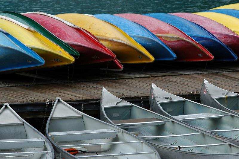 Canoes at Emerald Lake