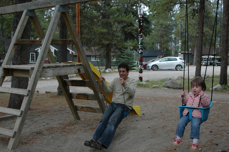 Norman and Natalie swinging at the Tekkara Lodge
