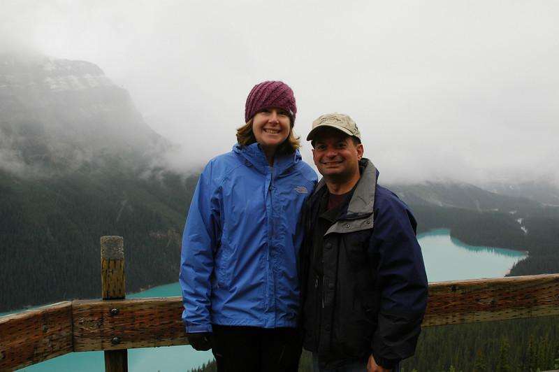 Sherri and Neil at Peyto Lake