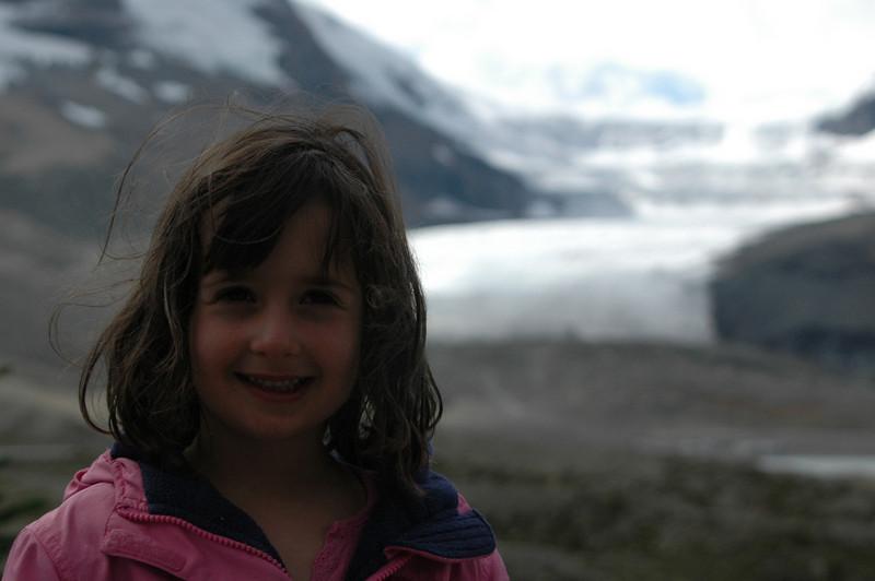 Samantha at the Columbia Icefield