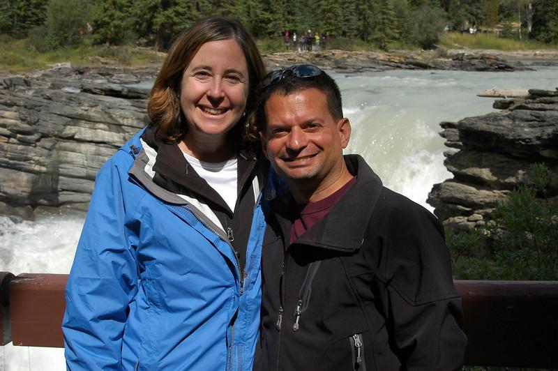 Sherri and Neil at Athabasca Falls