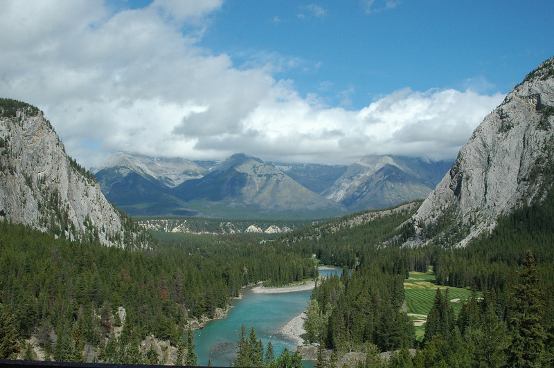 The view from our room at the Banff Springs Hotel