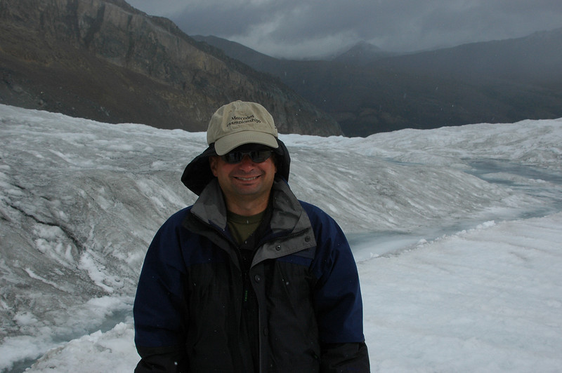 Neil on the Athabasca Glacier