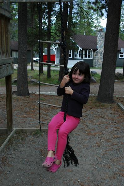 Samantha playing at the Tekkara Lodge