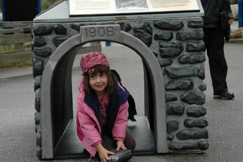Samantha at the Spiral Tunnels