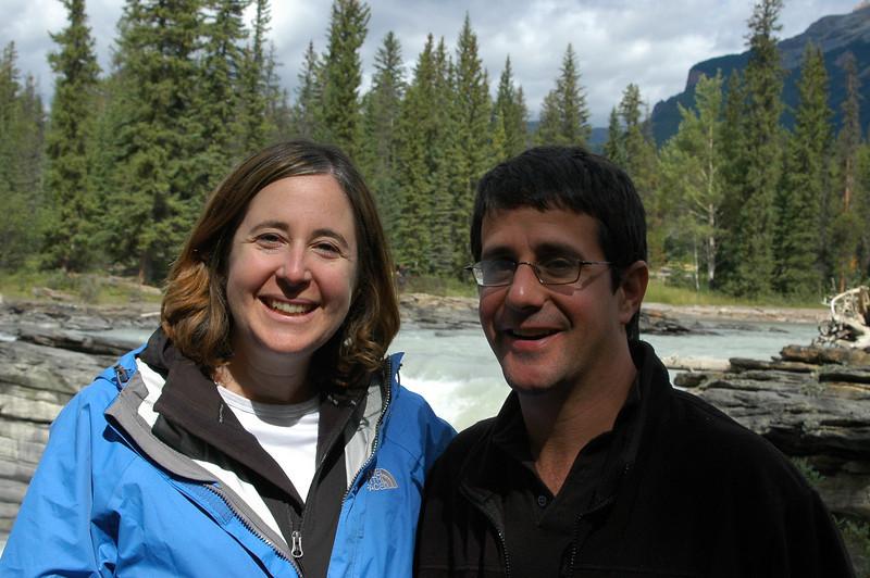 Sherri and Norman at Athabasca Falls