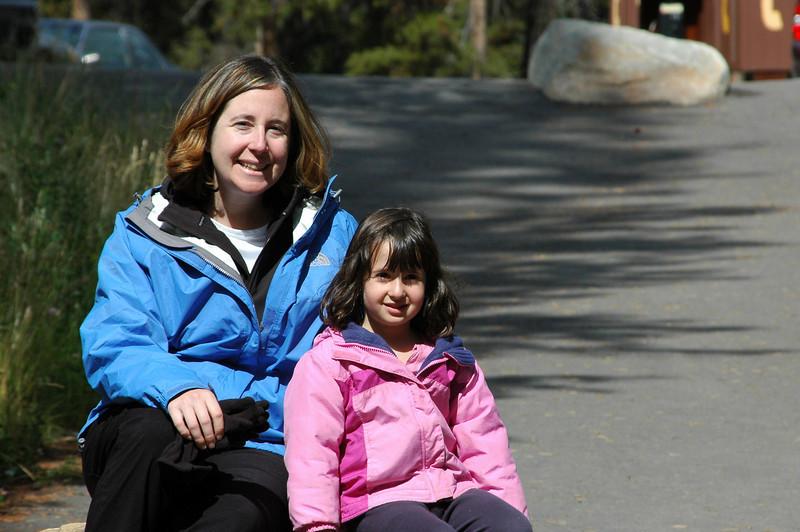 Sherri and Samantha at Athabasca Falls