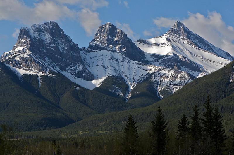 Up close, 3 sisters, Alberta