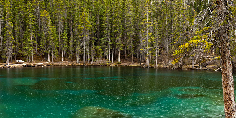 First of the two Grassi Lakes