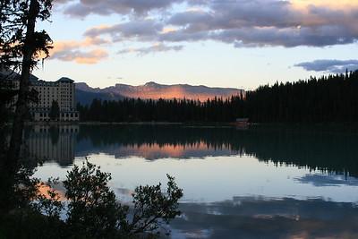 Sunset on Lake Louise