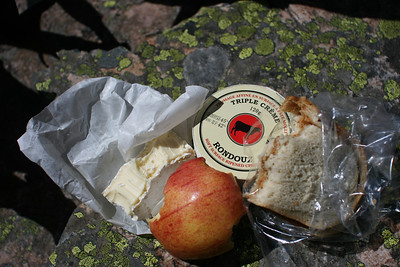 PBJ, Apple and great cheese for lunch.