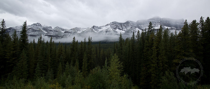 Stormy mountains along the Icefields Parkway, Banff National Park