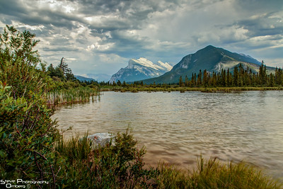 Vermillion Lakes and Mount Rundle in distance, Banff