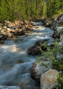 Cascades along the Icefields Parkway