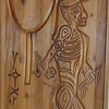 Wood carving of shaman. Buffalo Nations Luxton Museum