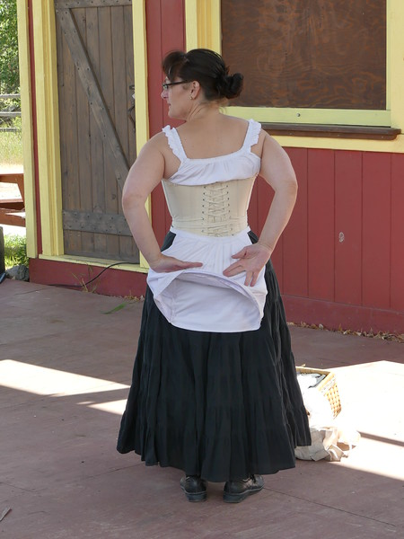 All about bustles. Lunch and  a history lesson on 1883 attire at Hat Creek Ranch