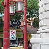 Traditional Chinese lantern street lights
