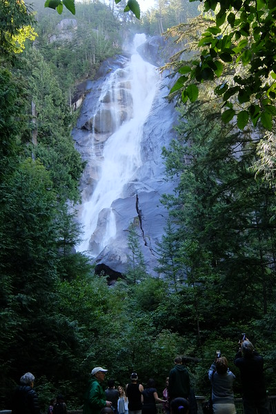 Shannon Falls is composed of a series of cliffs, rising 335 metres above Highways 99, making it the third highest falls in the province.
