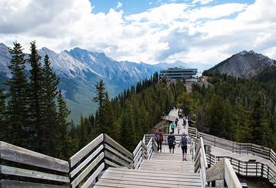Walkway at top of Banff Gondola