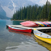Kayaks at Lake Moraine