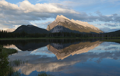 Mount Rundle as seen from the Vermillion Lakes.