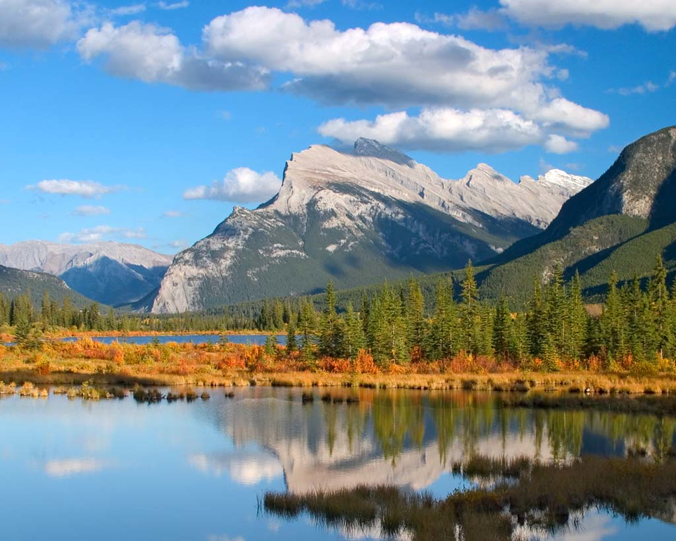 Mount Rundle's Reflection, Vermillion Lake, Canadian Rockies
