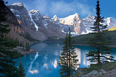 Morning at the Moraine Lake