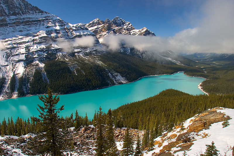 The Amazing Color of Peyto Lake, Alberta