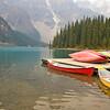 Kayaks and Lake Moraine