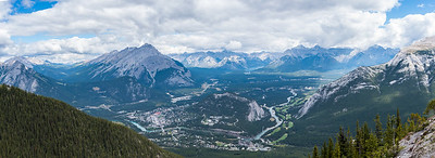 Banff from top of gondola