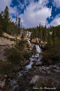 Tangle Creek Falls, Jasper National Park, Alberta, Canada.