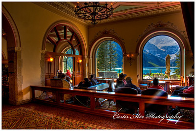 Inside Lake Louise Lodge.