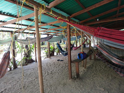 And here is where we slept for the second night.  Out in the jungle.  the mighty jungle...