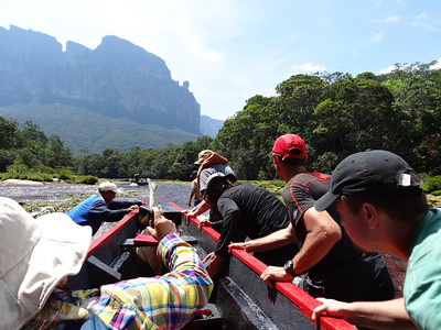 Some parts were so low that we had to push.  The guides told the women to stay in the boat.  Sorry guys!