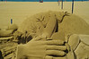 Amazing sand sculpture on Las Palmas beach. All the sand is imported.