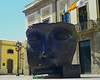 Mask outside the theatre.