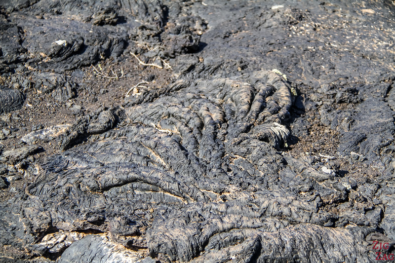 Tremesana Timanfaya National Park Walking Tour - detail in lava looking like cord